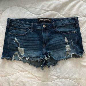 Express Shortie Denim Shorts Size 14